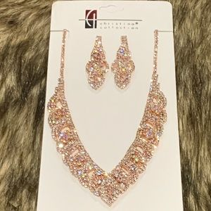 Rose Gold Necklace Set